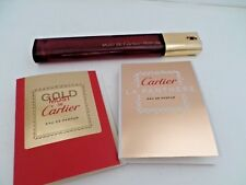 Collectable Cartier bottle + 2 testers Must de gold must de La Panthere parfume
