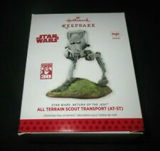 HALLMARK ORNAMENT STAR WARS 2013 ALL TERRIAN SCOUT TRANSPORT~TESTED NEW BATTERYS