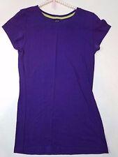 Love Active Purple Cap Sleeve Cotton Spandex Shirt Large
