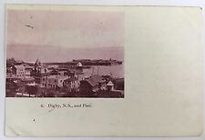 1904 Private Post Card Digby Nova Scotia Pier and buildings Canada