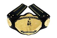 Fantasy Football Championship Belt Trophy Prize. Spike Black/Gold