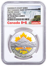 2017 Canada Coast Series Pacific Coast 1 oz Silver $20 NGC PF70 UC ER SKU48178