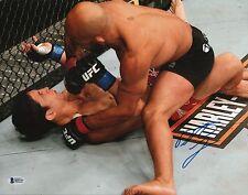 Demetrious Johnson Signed 11x14 Photo BAS COA UFC on Fox 2 vs Joseph Benavidez