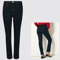 Ladies M&S PER UNA Sculpt & Lift Roma Rise SLIM Leg Jeans Blue Sizes 10 - 18