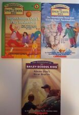 3 books of The Adventures of The Bailey School Kids