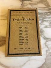 Rev. Dr. A. Cohen THE TWELVE PROPHETS  Hebrew Text & English Translation1948