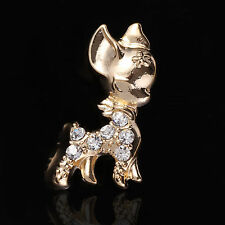 dog Rhinestone Brooch Gold Brooches Crystal Wedding Gifts Jewelry making