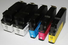 2 BK + 3 CL200XL ink for Lexmark OfficeEdge Pro 4000 5000 5500 5500T Hi Yl