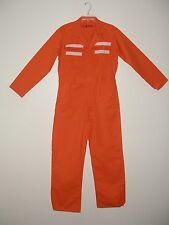 MENS COVERALLS SIZE 38R ORANGE (NO METAL PARTS)