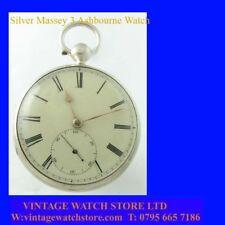 Victorian  Stunning Silver Ashbourne Fusee lever Massey 3 Pocket Watch 1841