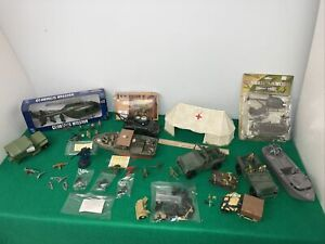 Diorama Vietnam Wwii Jeep's Boats Machine Guns Helicopter Tanks Tent 54mm 1/32