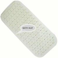 Extra Long Soft Rubber Bath Shower Mat  Strong Grip Suction Non-Slip Anti Fall