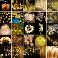 Blanc Chaud Noël guirlande lumineuse de fée Arbre Fête Mariage extérieur jardin