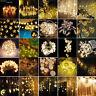 Blanc Chaud Lumière LED Rideau fil Lampe Conte De Fée Noël Mariage Fête