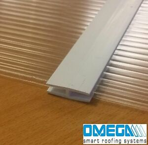 Joining Strips   H Section(10 pack) for 4mm Polycarbonate Sheets   610mm+1000mm