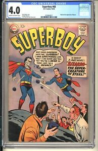 SUPERBOY #68  CGC 4.0 CR-OW VG DC Comics 1958 1st appearance Bizarro  (Superman)