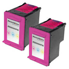 2 CC643WN 60 COLOR Ink Cartridge for HP HP60 Photosmart c4700 c4780 c4680 d110a