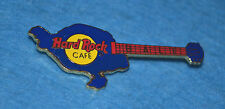 HARD ROCK CAFE Bali Blue Island Shaped Guitar Pin # 579