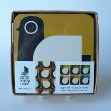 ORLA KIELY - HEN COASTERS 6 ASSORTED COLOURS - BRAND NEW BOXED FREE UK P&P OK331