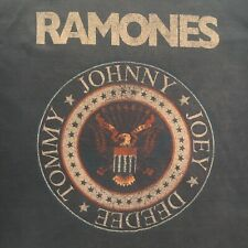 denim blue Ramones Seal punk t-shirt-1-2-3-4 Official brand-Oop-New Nwt-(L)