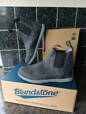 BLUNDSTONE Premium Leather Chelsea Boots Black Lightweight UK 5 NEW