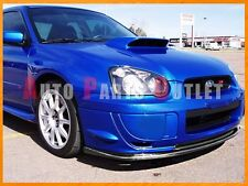 STI Style Carbon Fiber Front Bumper Add On Lip For Subaru 2003-2005 WRX STI GDB