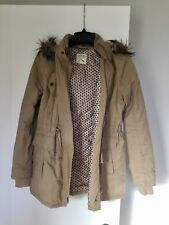 L.A. Hearts Nude Parka With Faux Fur Hoodie Size M
