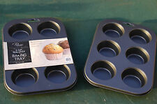 1x 6 Deep Mould Cup Non Stick Muffin Fairy Cake Baking Tray