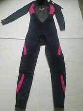 Girl's Roxy Full Long Sleeve Wetsuit Surfing Suit, Size 14, Pink Flowers