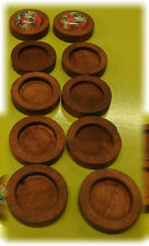 10pcs 12mm inner Antique Wooden Wood Cameo Cabochon Base Setting / Tray / Bezel