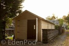 A 7 meter by 3 meter garage ,Felt roof shingles included,we can make any size.