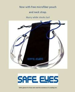 2x Bifocal Lens Safety Glasses Clear or sunglasses, free pouches and more
