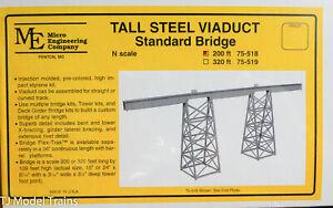 Micro Engineering Company N #75518 Tall Steel Viaduct, Standard Bridge (Plastic)