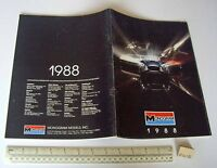 1988 Vintage Monogram USA Plastic Kit Catalogue - Cars Aeroplanes Ships etc