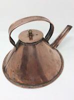 Art Deco Solid Copper Kettle H19 L24 W22CMS