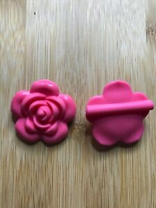Silicone Flower 40mm Bead  Baby Teether  2pcs  AUS SELLER  BPA Free