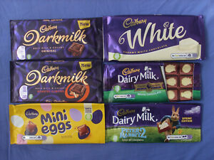 British Cadbury Chocolate Wrappers