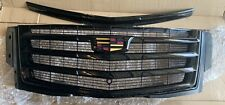 CADILLAC ESCALADE GRILLE GRILL & Hood Trim BLACK COLOR OEM 2015i -2020
