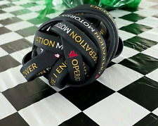 Operation Motorsport 20 pack black silicone programs support wristbands