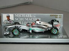 Minichamps 410110007 Mercedes Petronas MGP W02 F1 CAR GP 2011 M Schumacher 1:43