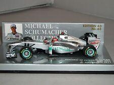 Minichamps 410110007 Mercedes Petronas MGP W02 F1 CAR GP 2011 M Schumacher 1:43