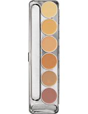 Kryolan Dermacolor Camouflage Creme 6 Color Makeup Palette