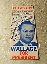 GEORGE WALLACE FOR PRESIDENT FOLDOUT BROCHURE 1968 ORIGINAL UNION PRINTED
