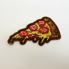 Pizza Slice Food Embroidered Patch for Embroidery Patches Badge Iron Sew