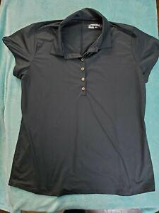 Women's NIKE Tour Performance Dri-Fit Black with Stripes Size XL Golf Shirt