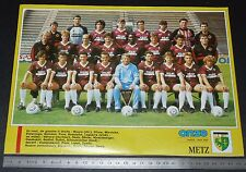 CLIPPING POSTER FOOTBALL 1987-1988 FC METZ LORRAINE GRENATS SAINT-SYMPHORIEN
