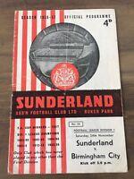 1956/57  Sunderland V Birmingham City
