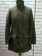 Barbour Classic Beadnell Ladies Olive Green Waxed Wax Cotton Jacket Size UK 10