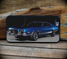 Hot 1972 Ford Gran Torino Blue iPhone Muscle Car iPhone 6 6S+ phone case