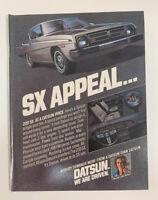 1978 Datsun SX Print Ad Car Nissan SX Appeal